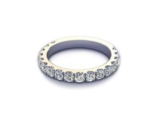 All Diamond Wedding Ring 1.00cts. in Platinum-W88-01530