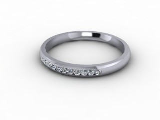 0.13cts. 1/4 Platinum Wedding Ring Ring-W88-01700