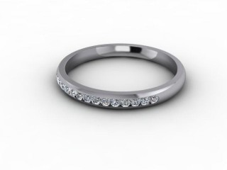 0.16cts. 1/3 Platinum Wedding Ring Ring-W88-01701