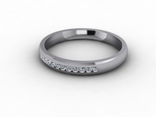 0.16cts. 1/4 Platinum Wedding Ring Ring-W88-01703
