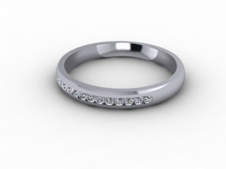 0.18cts. 1/3 Platinum Wedding Ring Ring-W88-01704