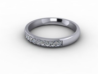 0.20cts. 1/4 Platinum Wedding Ring Ring-W88-01709