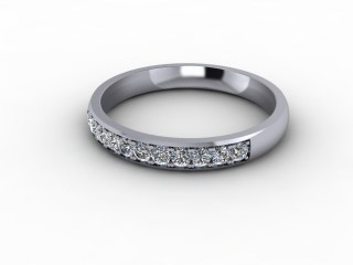 0.26cts. 1/3 Platinum Wedding Ring Ring-W88-01710