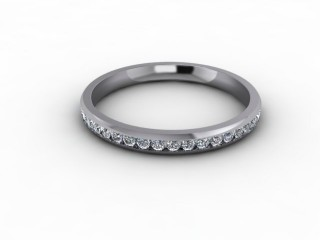 0.44cts. Full Platinum Wedding Ring Ring-W88-01713