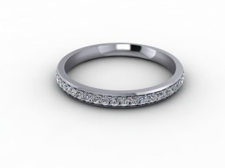 0.30cts. 3/4 Platinum Wedding Ring Ring-W88-01716