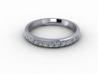 0.62cts. Full Platinum Wedding Ring Ring-W88-01719