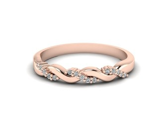 All Diamond Wedding Ring 0.15cts. in 9ct. Rose Gold-W88-44200