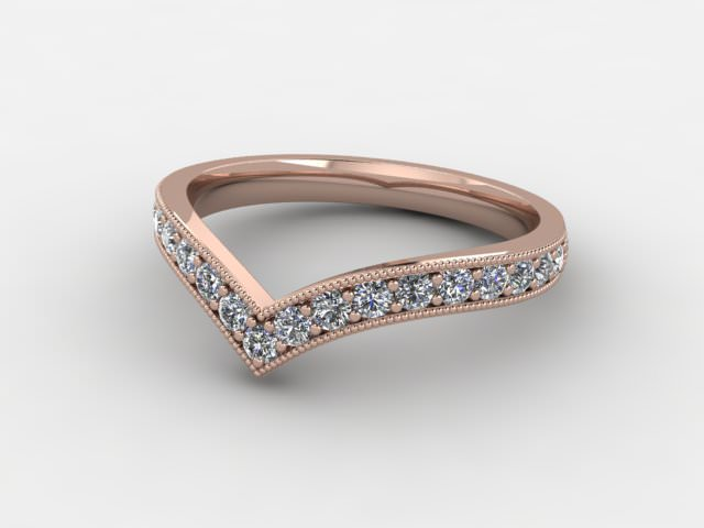 All Diamond 0.38cts. in 18ct. Rose Gold