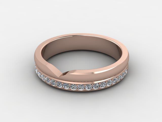 All Diamond 0.23cts. in 18ct. Rose Gold