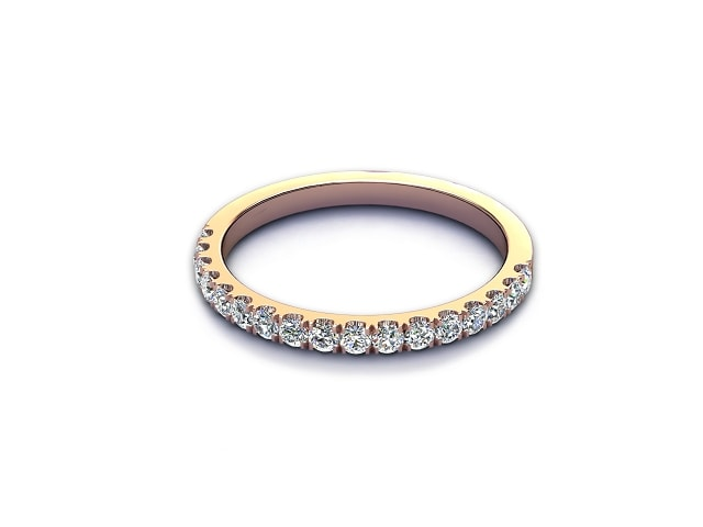All Diamond Wedding Ring 0.36cts. in 9ct. Rose Gold