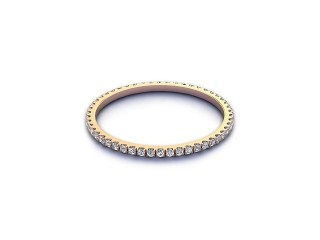 All Diamond Wedding Ring 0.20cts. in 9ct. Rose Gold-W88-44521