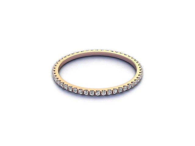 All Diamond Wedding Ring 0.20cts. in 18ct. Rose Gold