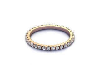 All Diamond Wedding Ring 0.45cts. in 18ct. Rose Gold-W88-04522