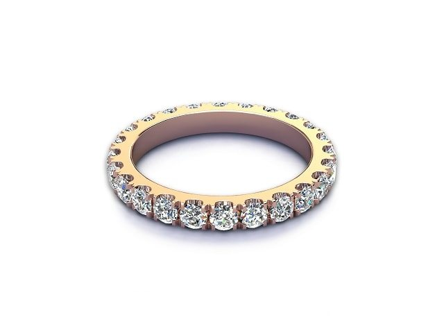 All Diamond Wedding Ring 1.40cts. in 18ct. Rose Gold