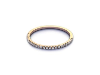 All Diamond Wedding Ring 0.10cts. in 18ct. Rose Gold-W88-04524