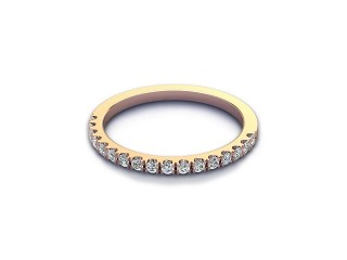 All Diamond Wedding Ring 0.22cts. in 18ct. Rose Gold-W88-04525