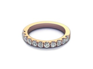 All Diamond Wedding Ring 0.65cts. in 18ct. Rose Gold-W88-04526
