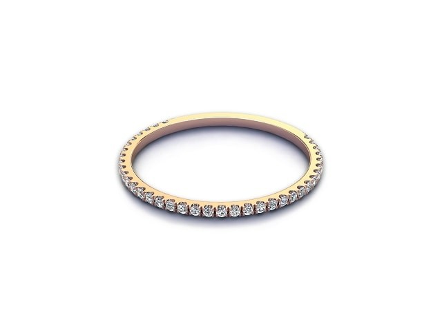 All Diamond Wedding Ring 0.15cts. in 9ct. Rose Gold
