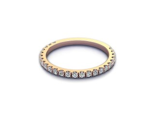 All Diamond Wedding Ring 0.33cts. in 18ct. Rose Gold-W88-04528