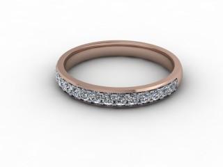 0.36cts. 1/2 18ct Rose Gold Wedding Ring Ring-W88-04711
