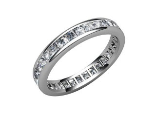 All Diamond Wedding Ring 1.43cts. in 18ct. White Gold-W88-05011