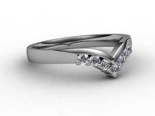 All Diamond Wedding Ring 0.25cts. in 18ct. White Gold-W88-05015