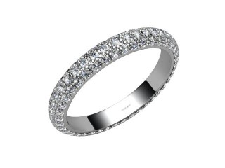 All Diamond Wedding Ring 1.90cts. in 18ct. White Gold-W88-05047
