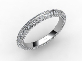 All Diamond Wedding Ring 1.30cts. in 18ct. White Gold-W88-05048