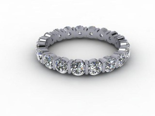 All Diamond Wedding Ring 1.91cts. in 18ct. White Gold-W88-05051