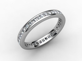 All Diamond Wedding Ring 0.78cts. in 18ct. White Gold-W88-05053