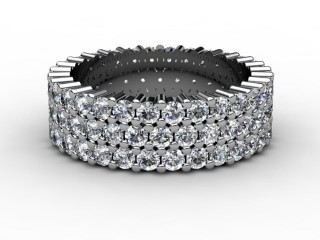 All Diamond Wedding Ring 2.70cts. in 18ct. White Gold-W88-05070