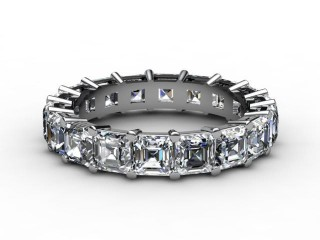 All Diamond Wedding Ring 4.44cts. in 18ct. White Gold-W88-05073