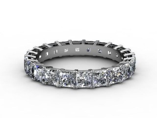 All Diamond Wedding Ring 3.75cts. in 18ct. White Gold-W88-05080