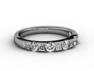 All Diamond Wedding Ring 0.78cts. in 18ct. White Gold-W88-05081
