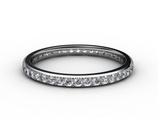 All Diamond Wedding Ring 0.40cts. in 18ct. White Gold-W88-05084