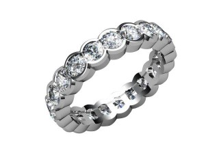 All Diamond Wedding Ring 2.11cts. in 18ct. White Gold-W88-05097