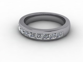 All Diamond Wedding Ring 1.04cts. in 18ct. White Gold-W88-05100