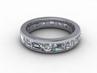 All Diamond Wedding Ring 3.43cts. in 18ct. White Gold-W88-05102