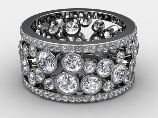 All Diamond Wedding Ring 3.25cts. in 18ct. White Gold-W88-05114