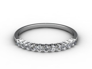All Diamond Wedding Ring 0.22cts. in 18ct. White Gold-W88-05118