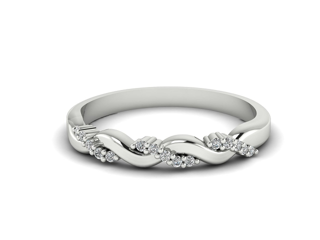 All Diamond Wedding Ring 0.15cts. in 18ct. White Gold