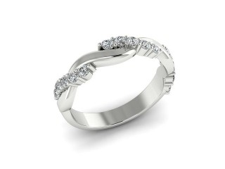 All Diamond Wedding Ring 0.33cts. in 18ct. White Gold-W88-05201