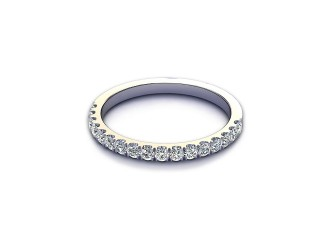 All Diamond Wedding Ring 0.36cts. in 18ct. White Gold-W88-05520