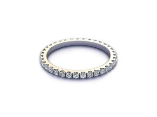 All Diamond Wedding Ring 0.45cts. in 18ct. White Gold-W88-05522