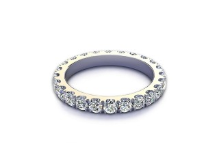 All Diamond Wedding Ring 1.40cts. in 18ct. White Gold-W88-05523