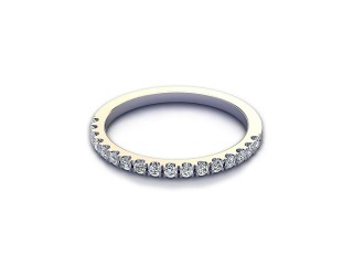 All Diamond Wedding Ring 0.22cts. in 18ct. White Gold-W88-05525