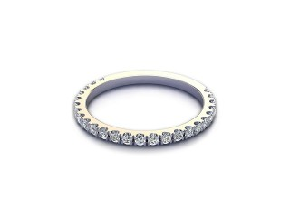 All Diamond Wedding Ring 0.33cts. in 18ct. White Gold-W88-05528