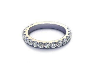 All Diamond Wedding Ring 1.00cts. in 18ct. White Gold-W88-05530