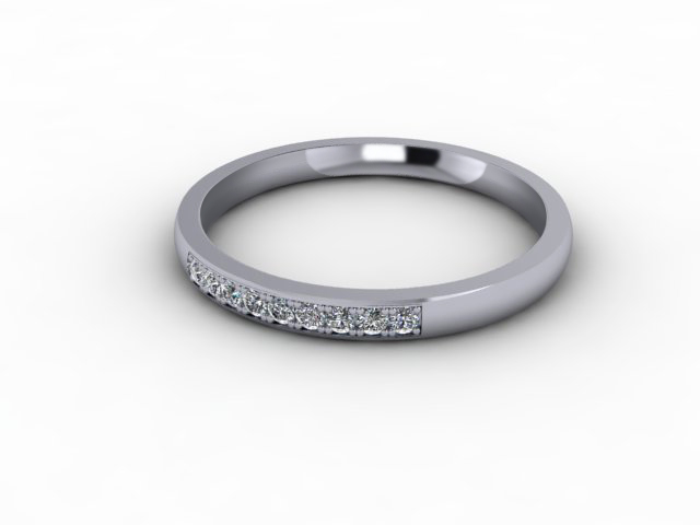 0.11cts. 1/4 18ct White Gold Wedding Ring Ring