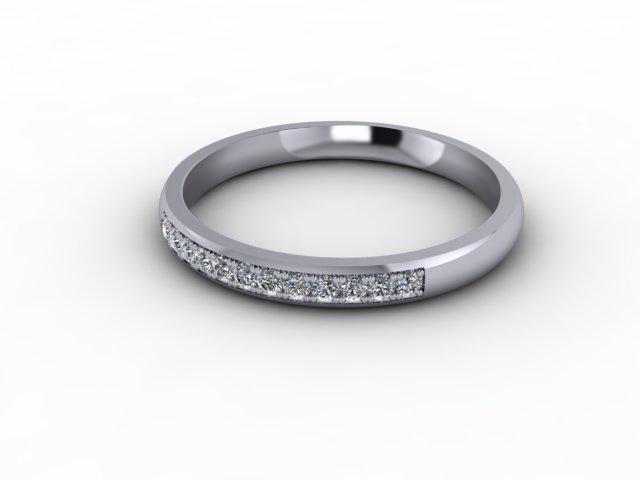0.14cts. 1/3 18ct White Gold Wedding Ring Ring